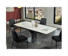 Tavolo da pranzo allungabile 6 a 8 posti in Ceramica e vetro temperato - COLBY