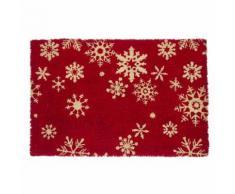 Zerbino festività fiocco neve rosso 40x60