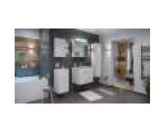emotion Set di mobili da bagno Firenze 70 (5 parti/C) bianco lucido e armadio a specchio