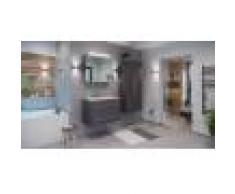 emotion Set di mobili da bagno Firenze 80 (4 parti/C) antracite e armadio a specchio
