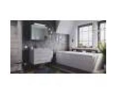 emotion Set di mobili da bagno Firenze 80 2 parti grigio cemento e armadio specchio
