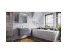emotion Set di mobili da bagno Firenze 70 2 parti antracite e armadio a specchio