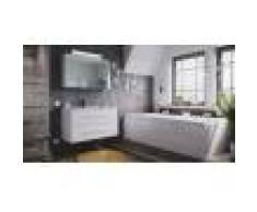 emotion Set di mobili da bagno Firenze 100 2 parti bianco lucido e armadio specchio