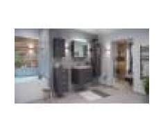 emotion Set di mobili da bagno Firenze 70 (5 parti/C) antracite e armadio a specchio