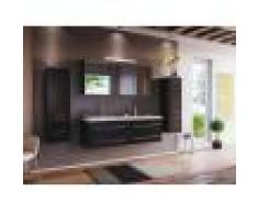 emotion Set mobili bagno PersepolisXL nero satinato con 2 colonne e armadio a specchio