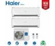 HAIER Climatizzatore Condizionatore Haier Dual Split Inverter Geos Plus R-32 9000+12000 Con 2u50feffra New 2021 - 9+12