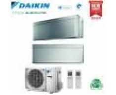 Daikin Climatizzatore Condizionatore Daikin Bluevolution Dual Split Inverter Stylish Silver R-32 Wi-Fi 7000+12000 Con 2mxm40m - New Total Silver Ftxa-Bs