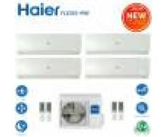 HAIER Climatizzatore Condizionatore Haier Quadri Split Inverter Flexis White R-32 7000+7000+7000+24000 Con 4u85s2sr2fa Wi-Fi Incluso New 2021 - 7+7+7+24