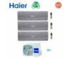 HAIER Climatizzatore Condizionatore Haier Trial Split Inverter Nebula Green Grey R-32 7000+9000+12000 Con 3u55s2sr2fa Wi-Fi Ready 7+9+12