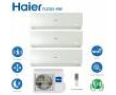 HAIER Climatizzatore Condizionatore Haier Trial Split Inverter Flexis White R-32 7000+7000+12000 Con 3u55s2sr2fa Wi-Fi Incluso New 2021 - 7+7+12