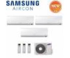Samsung Climatizzatore Condizionatore Samsung Trial Split Inverter Serie New Style Plus 12000+12000+12000 Con Aj068mcj - Modello 2018 12+12+12