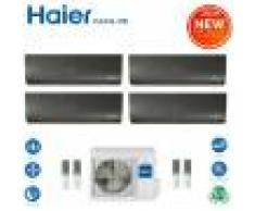 HAIER Climatizzatore Condizionatore Haier Quadri Split Inverter Flexis Black R-32 7000+7000+9000+18000 Con 4u85s2sr2fa Wi-Fi Incluso New 2021 - 7+7+9+18