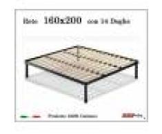 ErgoRelax Rete per materasso a 14 doghe in faggio VIENNA 160x200 cm. 100% Made in Italy