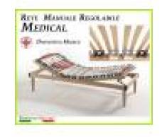 ErgoRelax Rete Manuale Regolabile Medical a Doghe di Legno da Cm. 80x190/195/200 Presidio Medico Prodotto Italiano