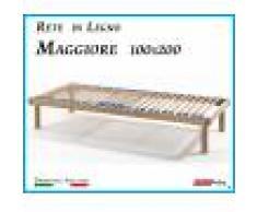 ErgoRelax Rete in Legno Maggiore con 26 Doghe di Faggio e Regolatori Rigidità 100x200