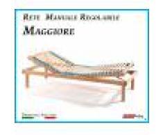 ErgoRelax Rete Manuale Regolabile Maggiore a Doghe di Legno da Cm. 90x190/195/200 Prodotto Italiano