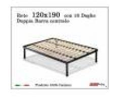 ErgoRelax Rete per materasso a 18 doghe in faggio Con Doppia Barra Centrale 120x190 cm. 100% Made in Italy
