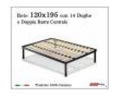 ErgoRelax Rete per materasso a 14 doghe in faggio VIENNA 120x195 con Doppia Barra Centrale cm. 100% Made in Italy