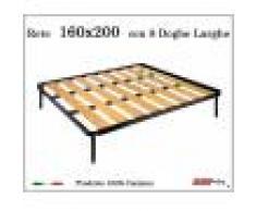 ErgoRelax Rete a 8 doghe larghe in faggio da Cm 160x200 cm. 100% Made in Italy
