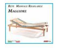 ErgoRelax Rete Manuale Regolabile Maggiore a Doghe di Legno da Cm. 100x190/195/200 Prodotto Italiano