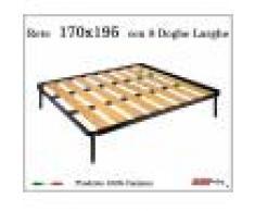 ErgoRelax Rete a 8 doghe larghe in faggio da Cm 170x195 cm. 100% Made in Italy