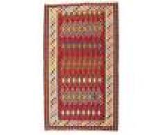 Annodato a mano. Provenienza: Persia / Iran Tappeto Tessuto A Mano Kilim Vintage 149X251 Ruggine/Rosso/Marrone Scuro (Lana, Persia/Iran)
