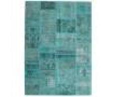 Annodato a mano. Provenienza: Persia / Iran 141X198 Tappeto Patchwork - Persien/Iran Moderno Fatto A Mano Blu Turchese/Blu Turchese (Lana, Persia/Iran)