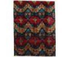 Annodato a mano. Provenienza: India 279X374 Tappeto Sari Puri Di Seta Moderno Fatto A Mano Marrone Scuro/Rosso Scuro Grandi (Seta, India)