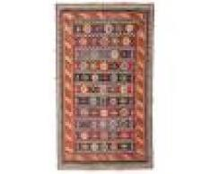 Annodato a mano. Provenienza: Persia / Iran 162X270 Tappeto Kilim Vintage Orientale Tessuto A Mano Rosso Scuro/Marrone Scuro (Lana, Persia/Iran)
