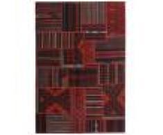 Annodato a mano. Provenienza: Persia / Iran 140X202 Tappeto Tekkeh Kilim Moderno Tessuto A Mano Rosso Scuro (Lana, Persia/Iran)