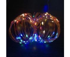 Mini Ghirlanda LED 5V luci per decorazioni Natalizie con cavo USB Multicolor