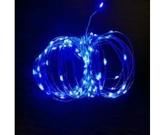 Mini Ghirlanda LED 5V luci per decorazioni Natalizie con cavo USB Blu