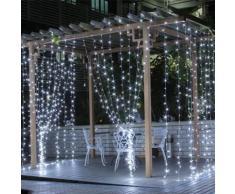 Ghirlanda LED 220V 3M a tenda 16 pendenti 320led IP44 luce Fredda