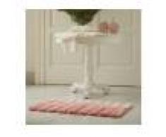 Tappeto Bagno A Pelo Lungo Rosa-Preziosa