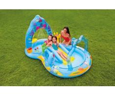 Piscina gonfiabile bambini Intex 57139 Mermaid Kingdom Play Center ...