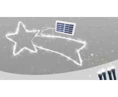 Stella cometa led energia solare esterno albero Natale 50 led Senza...