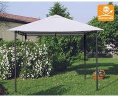 Gazebo 3x3 metri giardino acciaio antivento STYLE uv