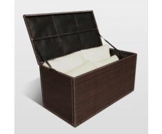 Contenitore cuscini salotto Polyrattan intrecciato STORAGE BOX