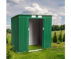 Box in lamiera zincata verde casetta giardino attrezzi ripostiglio ...