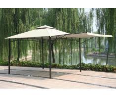 Gazebo 3,3x3,3 metri giardino bar veranda mercato pagoda ANTIGUA