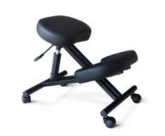 Sedia ortopedica sgabello svedese metallo ufficio ergonomica