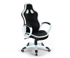 Poltrona racing sedia ufficio sportiva gaming ecopelle ergonomica S...