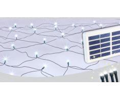 Rete luci di Natale esterno decorativa 50 led energia solare batter...