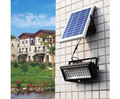 Faretto a muro luce led solare giardino sensore movimento FLEXIBLE NEW