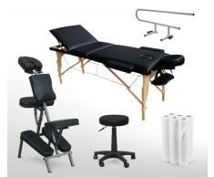 Set massaggio lettino panca sgabello portarotolo carta per estetist...