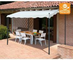 Gazebo 3x2 metri giardino acciaio ingresso bar hotel PERGOLA uv