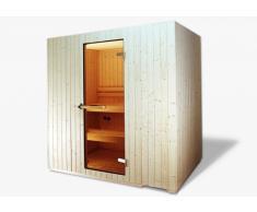 Sauna in Legno Sirio con Stufa e Centralina Digitale Made in Italy