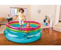 Saltarello trampolino elastico gonfiabile bambini Intex 48267 Jump-...