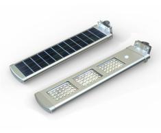 Lampione stradale a Led 3000 Lumen con pannello solare integrato gi...