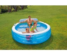 Intex 57190 piscina gonfiabile piccola rotonda divano 224x216x76